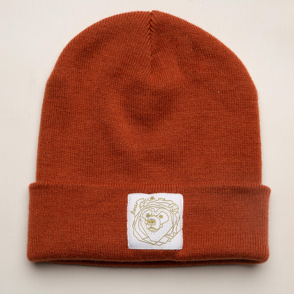 Bear With Me -  Rust Red Beanie