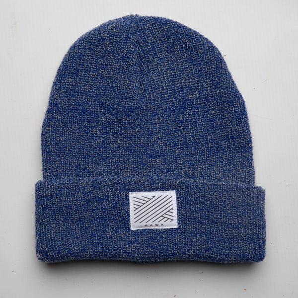 Intertwined -  Blue Speckled Beanie