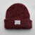 Premium Beanie - Intertwined Rustic Red