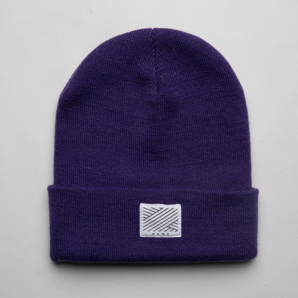 Intertwined -  Purple Beanie