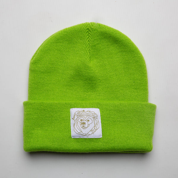 Bear With Me -  Lime Beanie