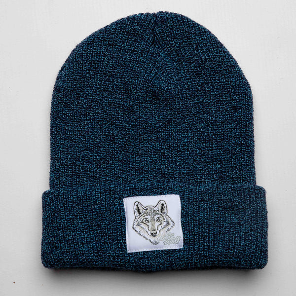Lone Wolf -  Petrol Speckled Beanie