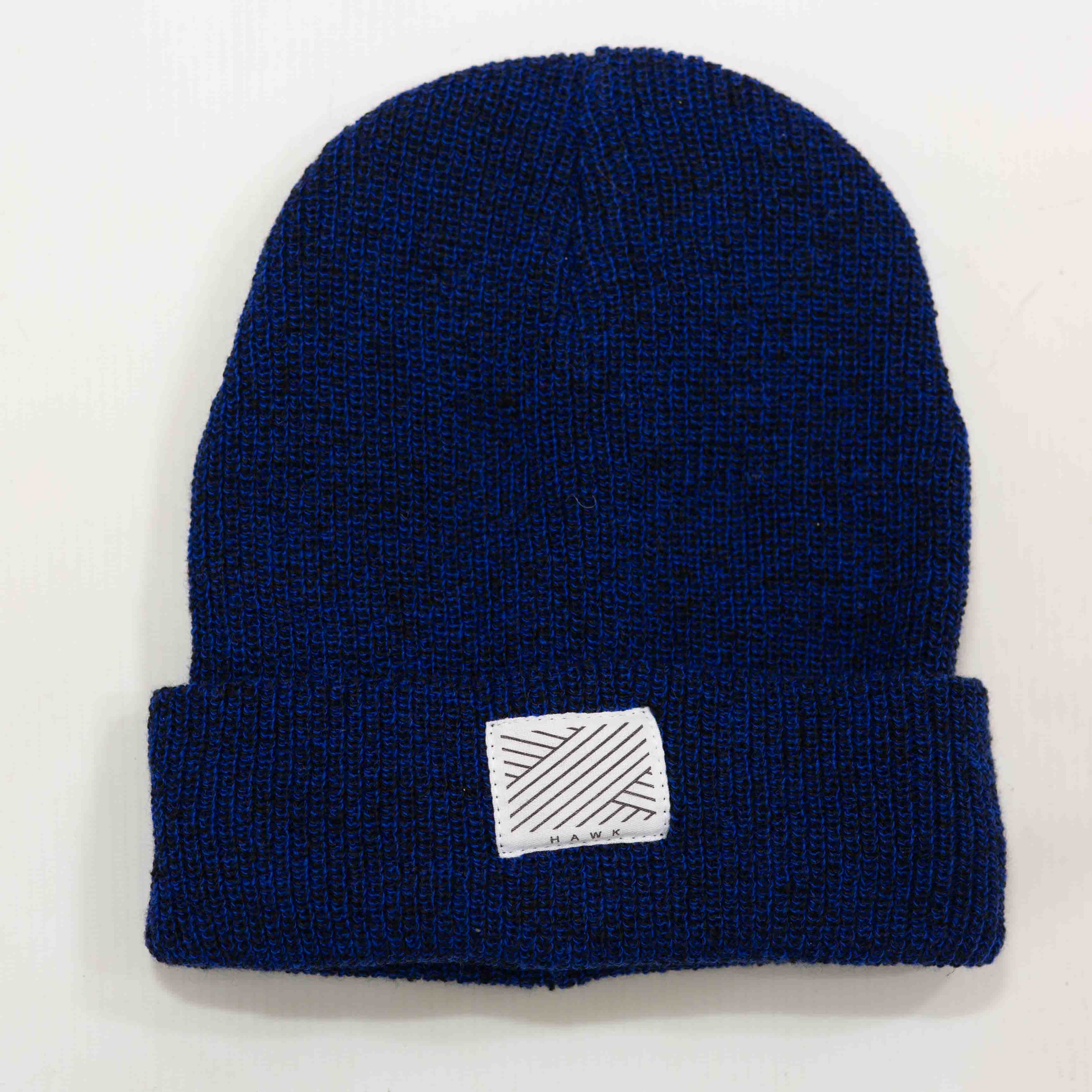 Intertwined - Speckled Navy Beanie