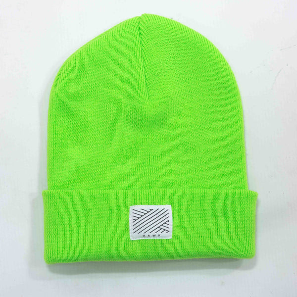 Intertwined - Lime Beanie