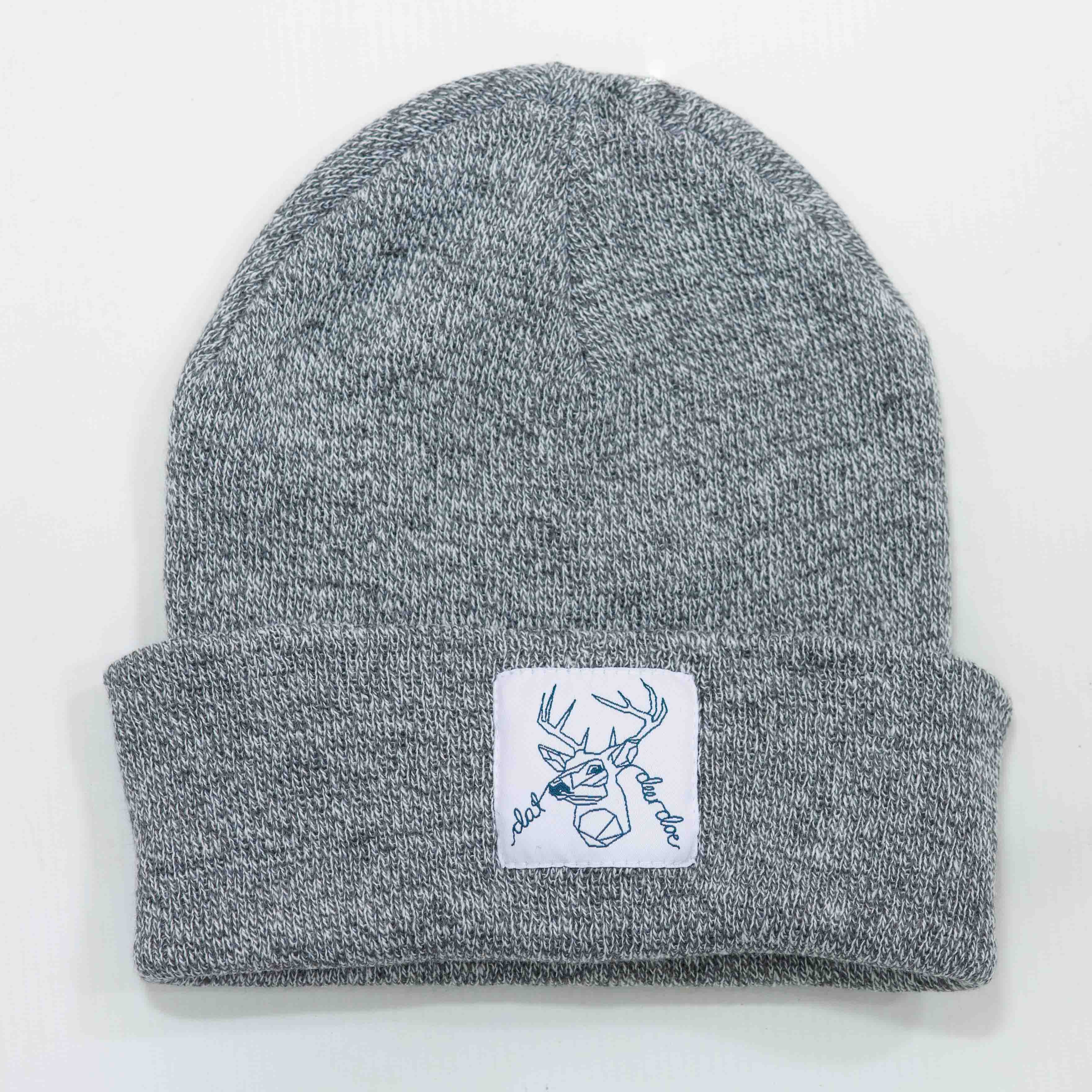 Dat Deer Doe - Light Grey Speckled Beanie
