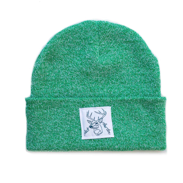 Dat Deer Doe -  Speckled Green Beanie