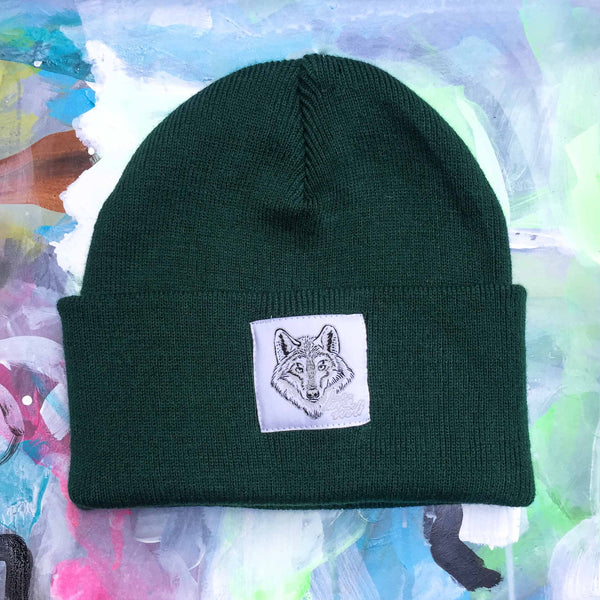 Lone Wolf -  Bottle Green Beanie