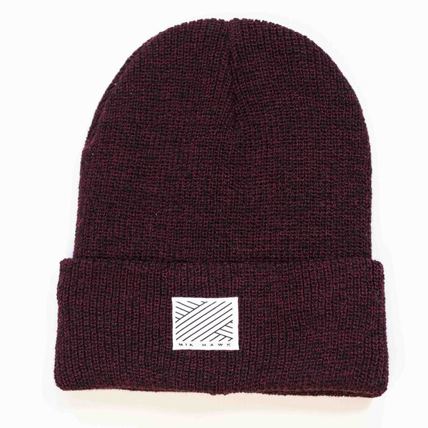 Intertwined Heather Burgundy Beanie