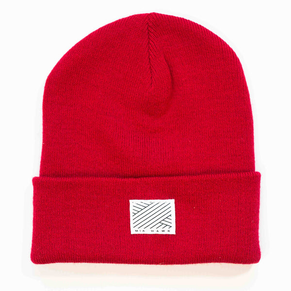 Intertwined Red Beanie