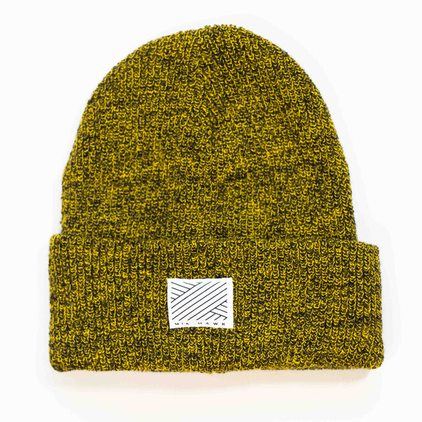 Intertwined Dirty Mustard Beanie