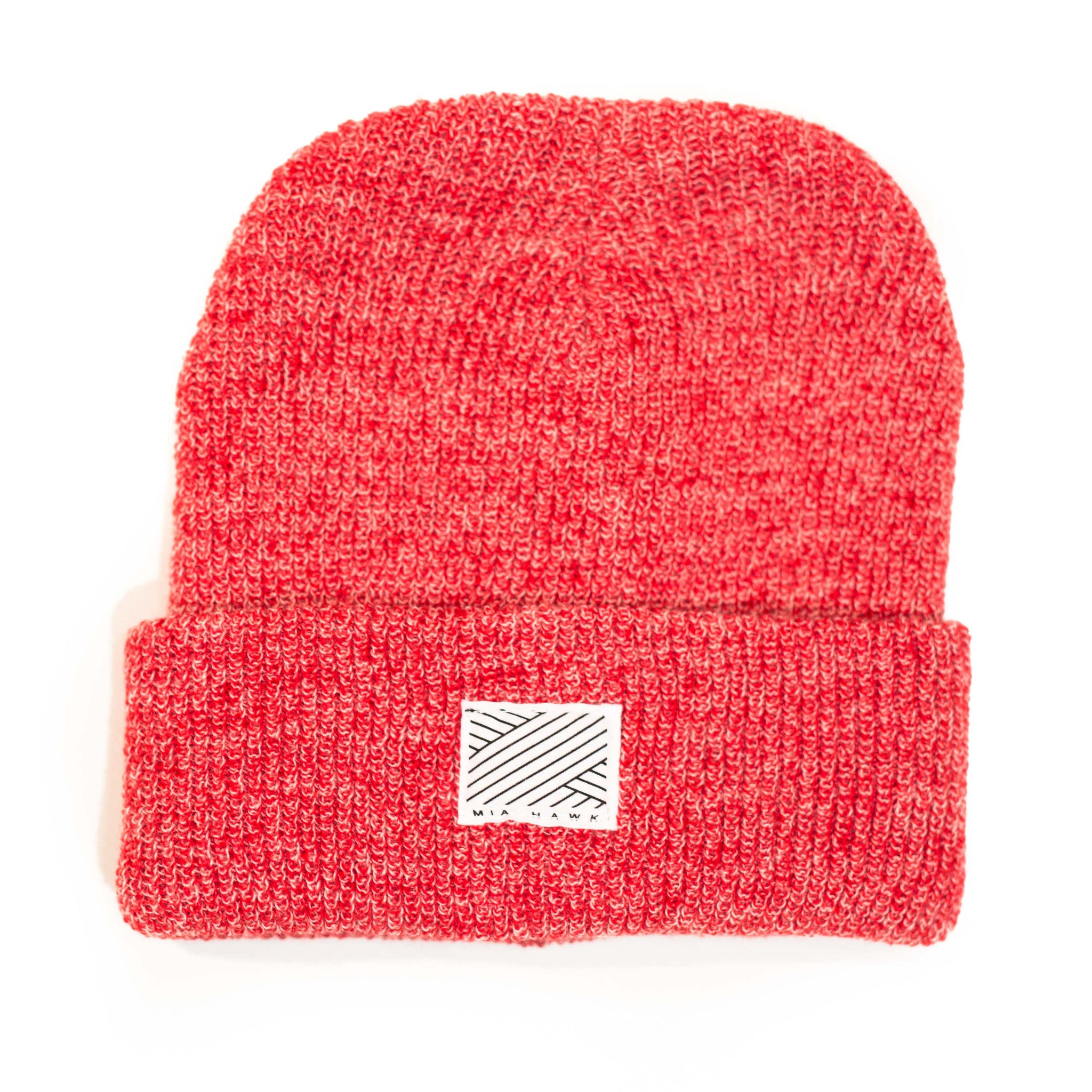Intertwined Speckled Red Beanie