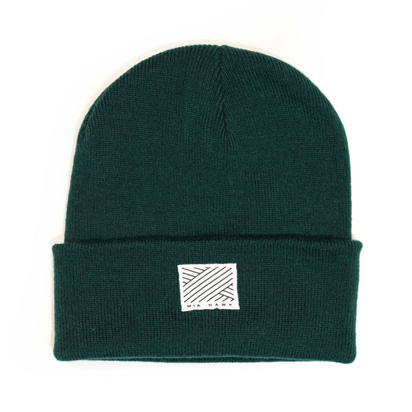 Intertwined Deep Green Beanie