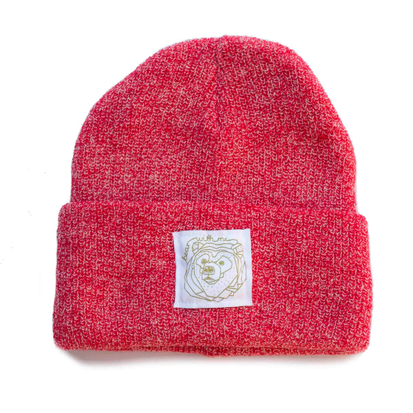 Bear With Me -  Strawberry Speckled Beanie