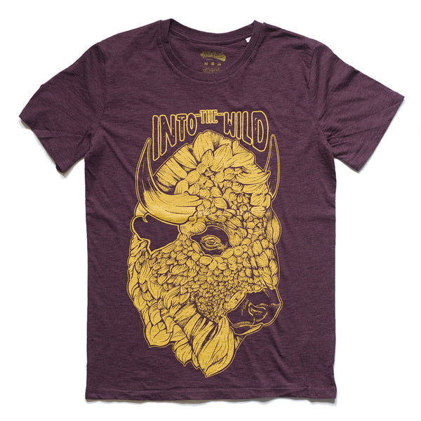 Into the wild Purple Organic tee