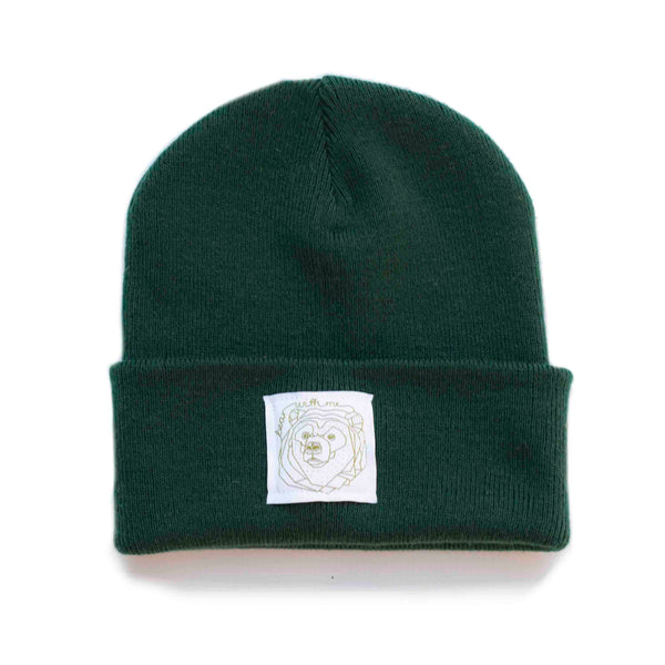 Bear With Me -  Bottle Green Beanie