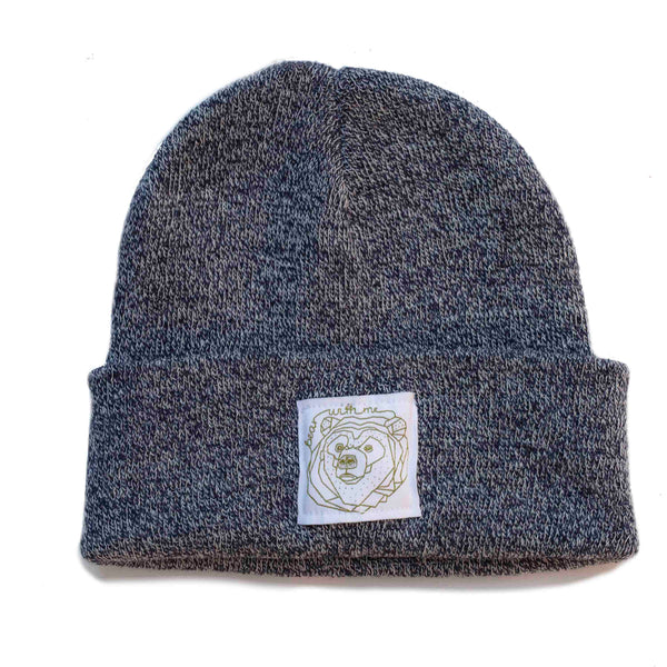 Bear With Me -  Dark Speckled Beanie