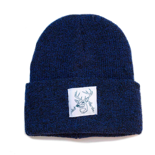 Dat Deer Doe -  Speckled Navy Beanie