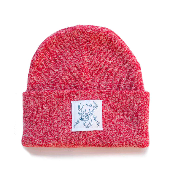 Dat Deer Doe -  Red speckled beanie