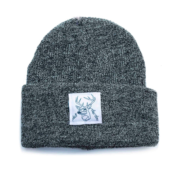 Dat Deer Doe -  Grey Speckled Beanie