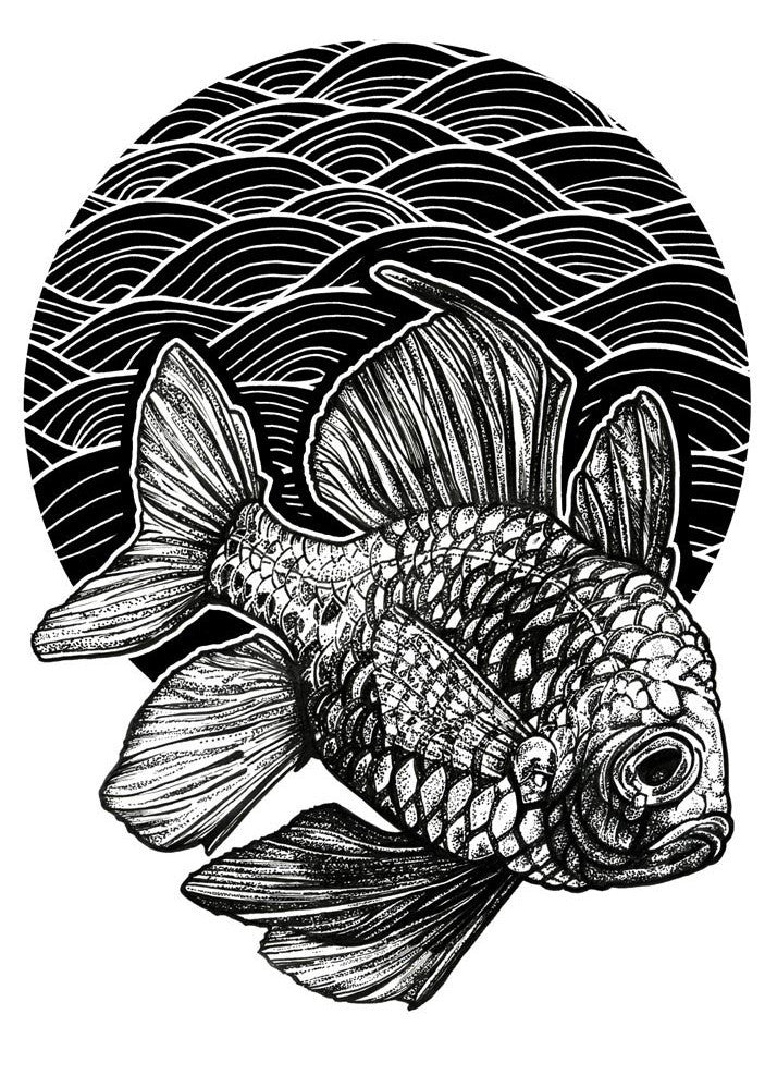 Lone Fish Limited Edition Giclee Print