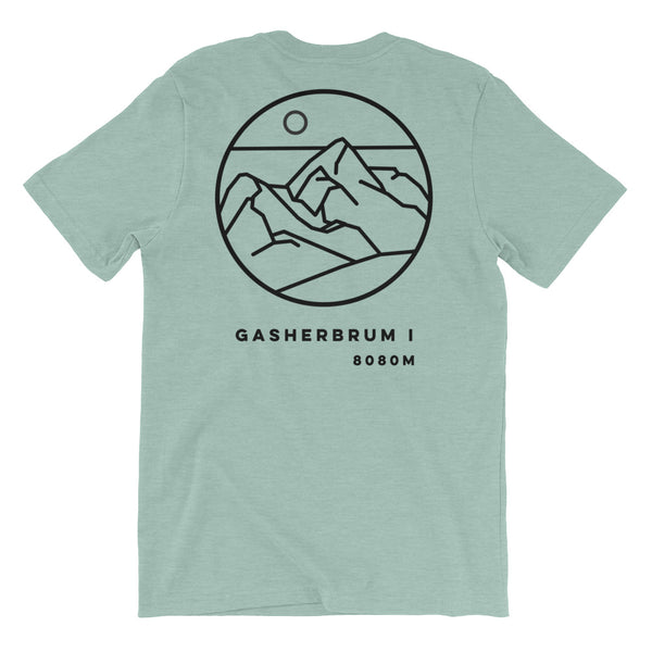 GASHERBRUM 1 black Graphic Tee