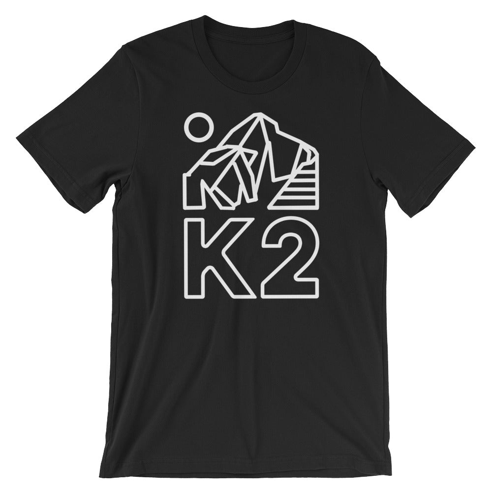 K2 White Print Graphic Tee