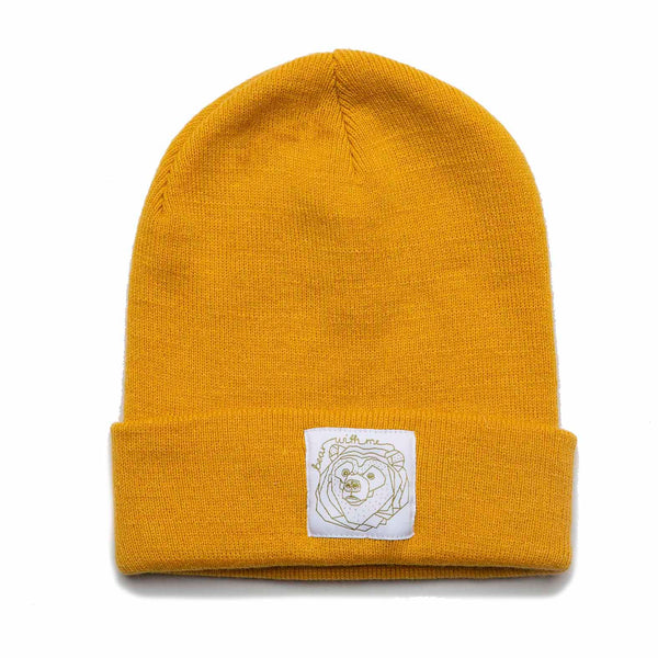 Bear with Me Mustard Beanie