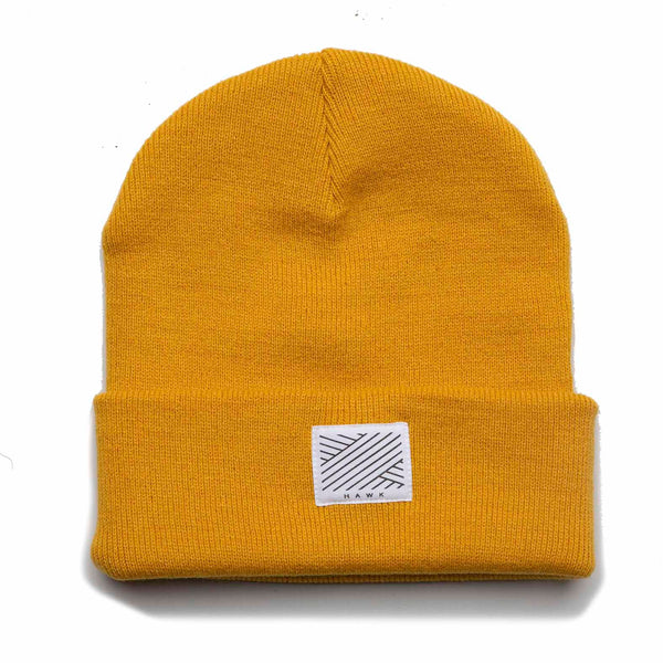 Intertwined Mustard Beanie