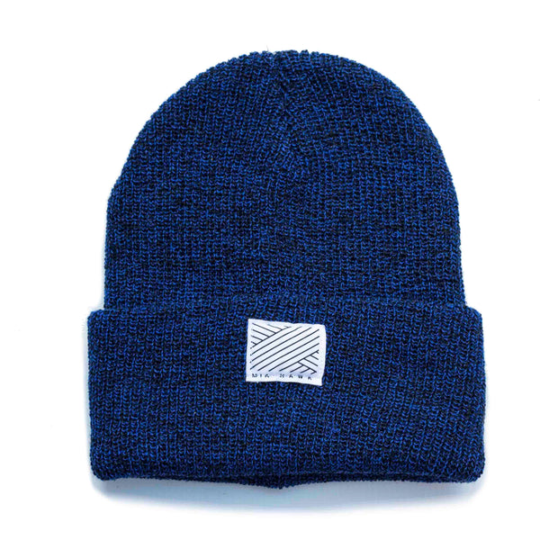 Intertwined - Navy Speckled Beanie
