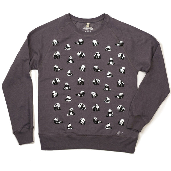 Panda Pattern Recycled Sweatshirt