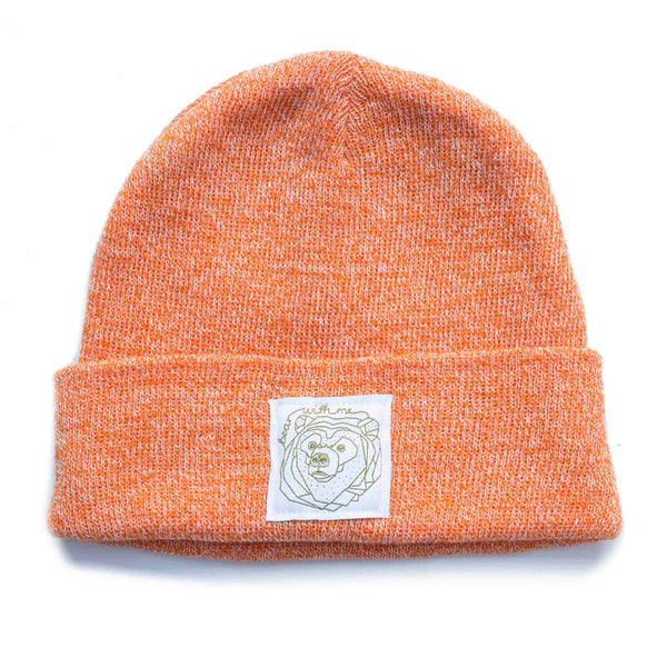 Bear With Me -  Peach Speckled Beanie
