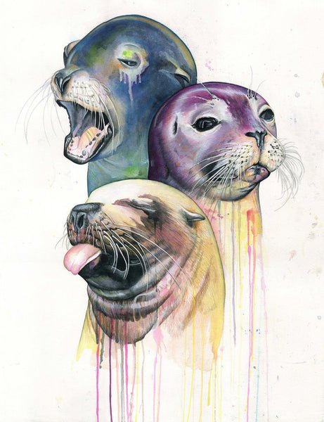 SEALS Limited Edition Giclee Print