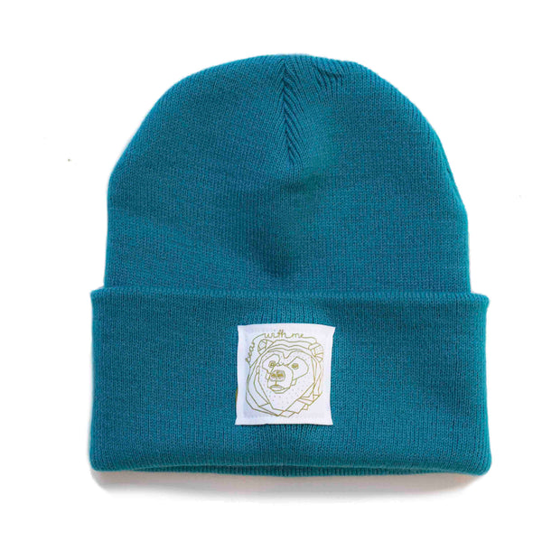 Bear With Me -  Turquoise Beanie