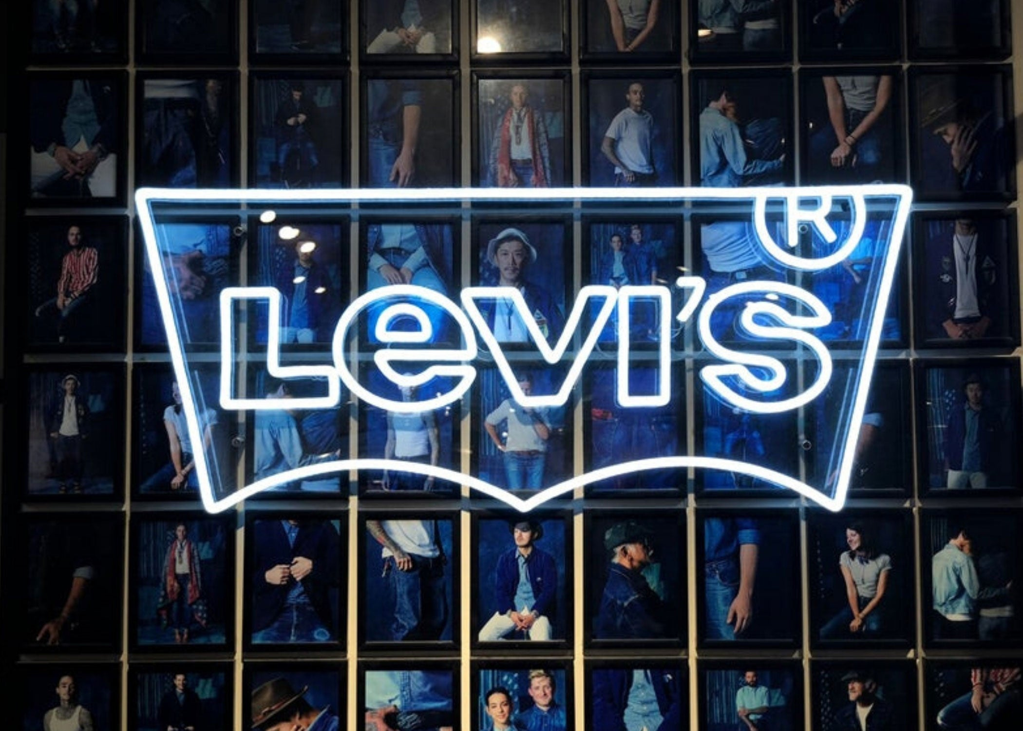 custom neon sign for business levis shop mk neon