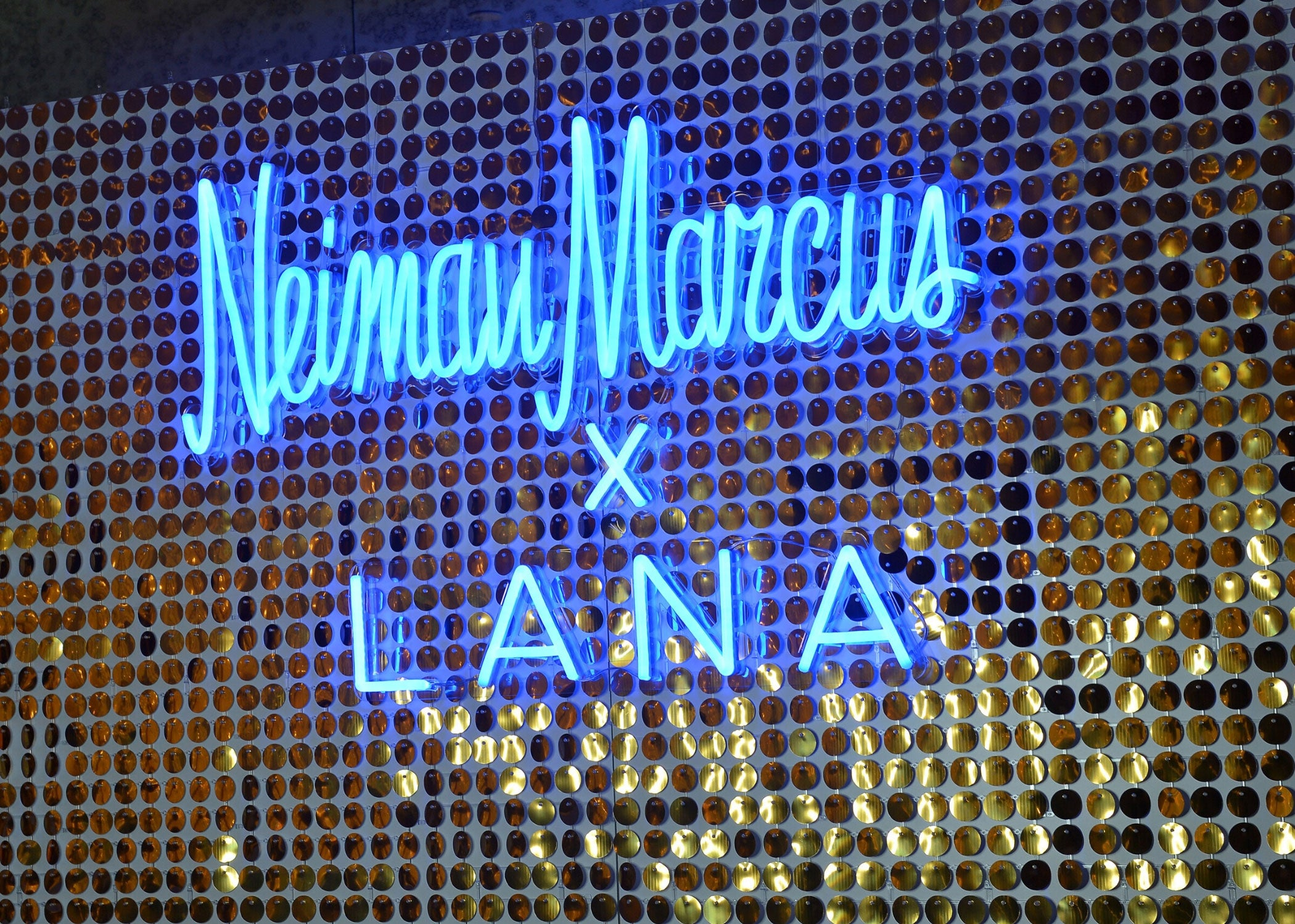 custom neon sign business neiman marcus event mk neon