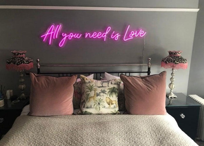 all you need is love neon sign quotes for bedroom mk neon
