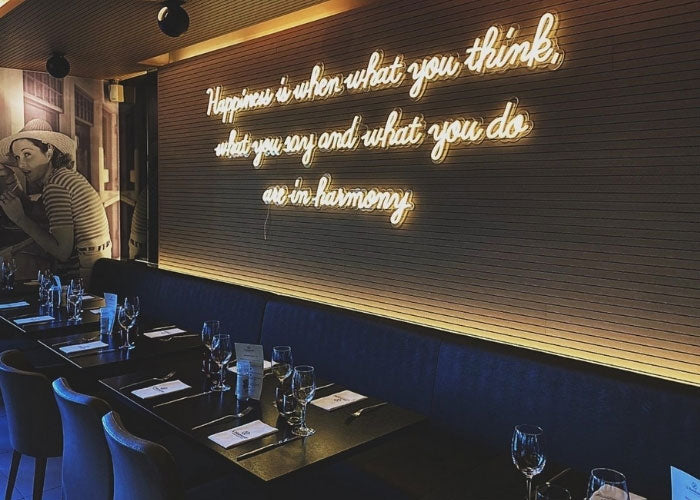 neon sign quotes for restaurant mk neon