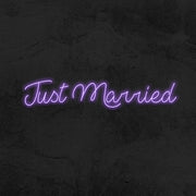 Just married wedding neon sign led mk neon