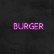 burger neon sign led restaurant mk neon