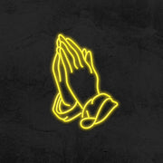 praying hands neon sign LED home decor mk neon