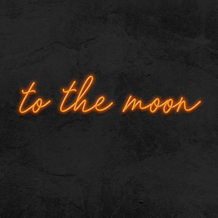 to the moon neon sign led mk neon