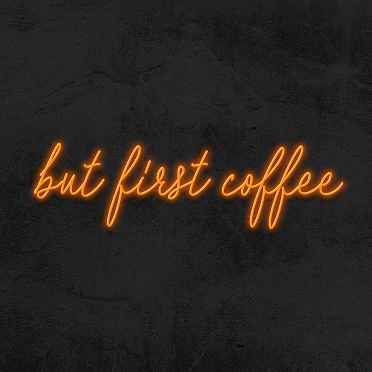 but first coffee neon sign led quote mk neon