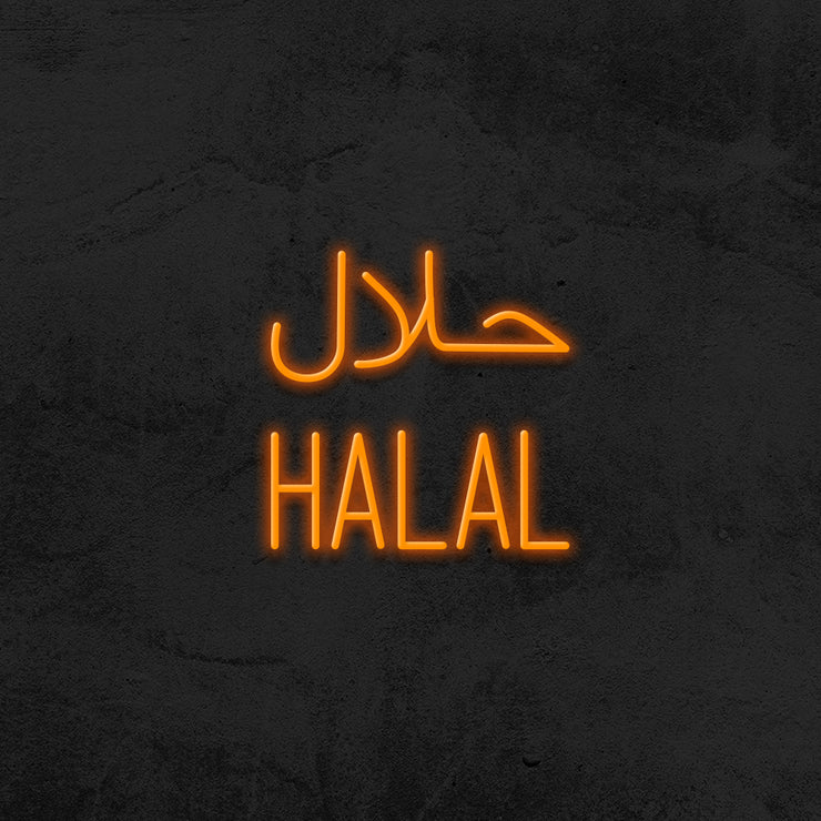 halal neon sign led restaurant mk neon