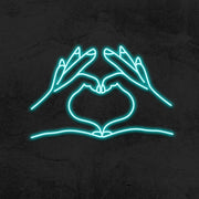 heart hands neon sign led home decor mk neon