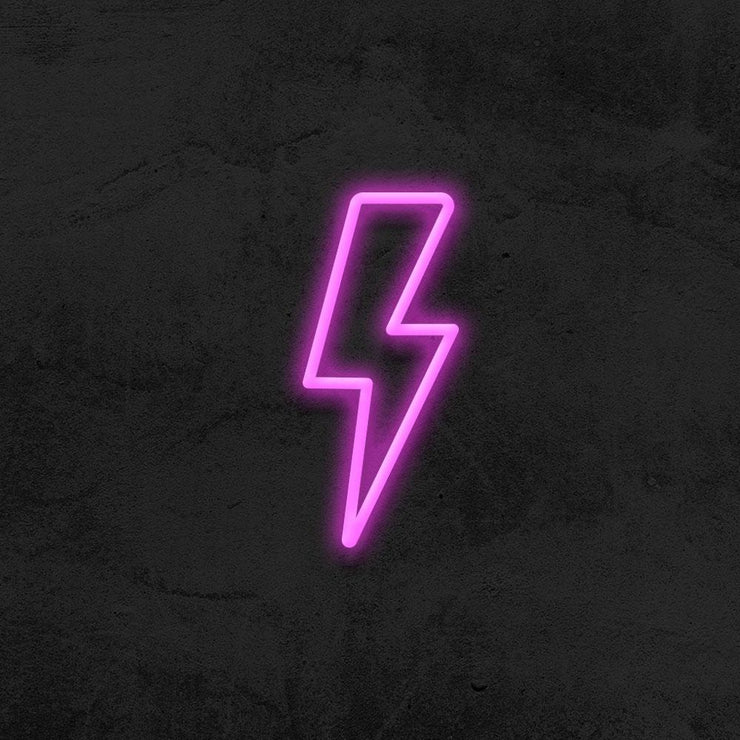thunder neon sign LED kid room mk neon