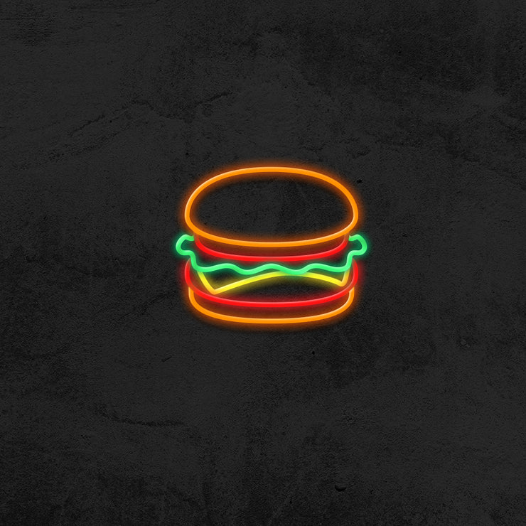 Burger - LED Neon Sign