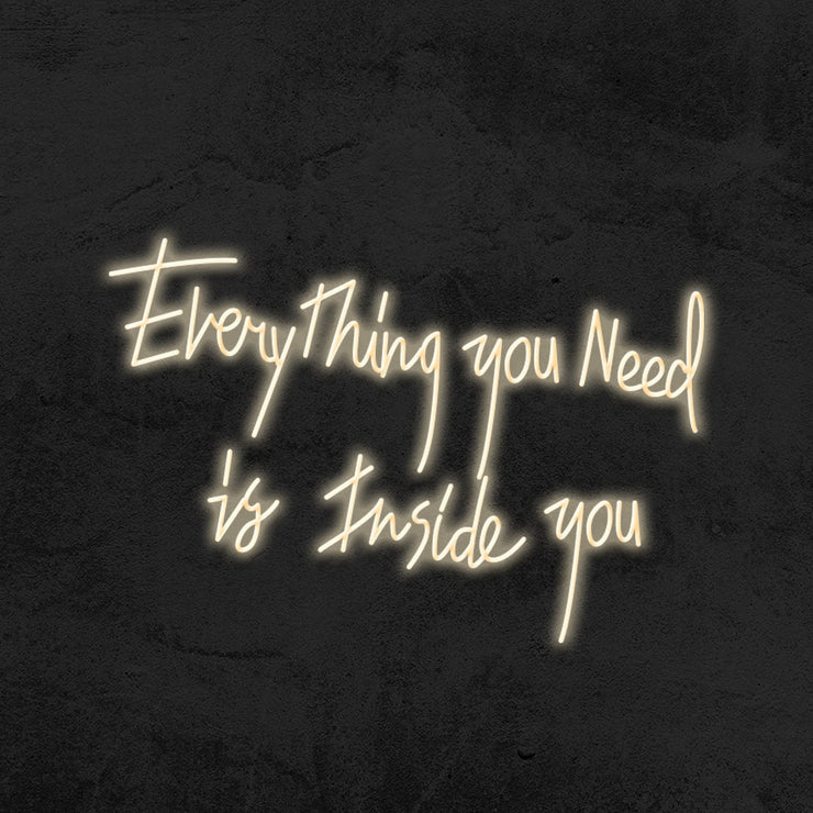 everything you need is inside you neon sign led home decor mk neon
