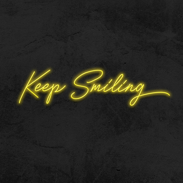 keep smiling neon sign led mk neon