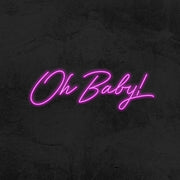 oh baby neon sign led baby shower mk neon