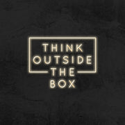 think outside the box neon sign led mk neon